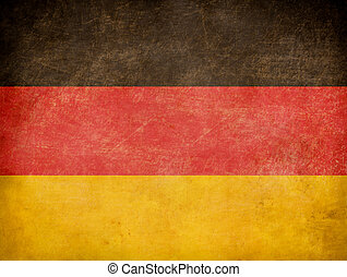 Grunge German flag