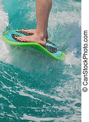 surf board - Surfing on the board stop action high speed...