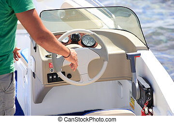 Speedboat close up - Brand new speedboat close up