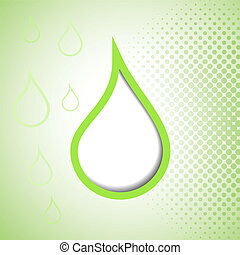 Green drop abstract background