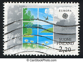 Environmental Conservation - FINLAND - CIRCA 1986: stamp...