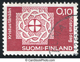 crown of thorns - FINLAND - CIRCA 1963: stamp printed by...