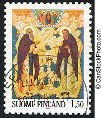 religion - FINLAND - CIRCA 1985: stamp printed by Finland,...