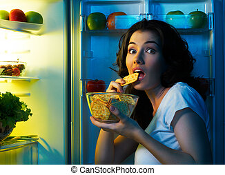 refrigerador, alimento
