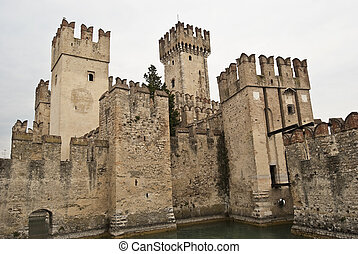 Scaliger Castle in Sirmione Italy - famous Scaliger Castle...