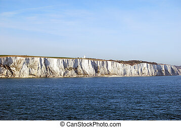 white Cliffs of Dover - famous white cliffs of Dover when...