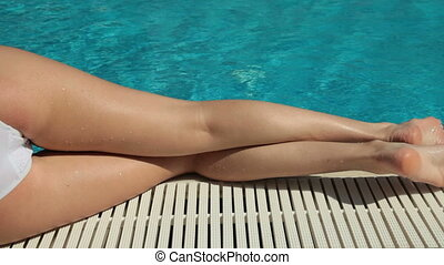 DOLLY: Bikini Body Sunbathing - Bikini Female Sunbathing by...