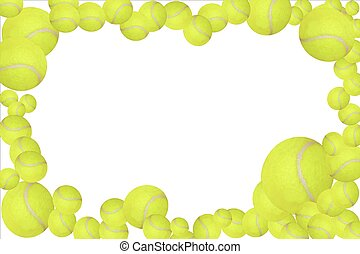 Tennis balls frame,  easy to edit