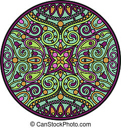 mandala - The vector illustration of oriental mandala