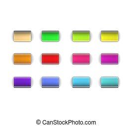 3d Web button set