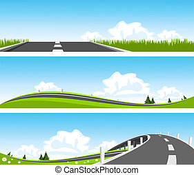 BANNER - Way through nature Vector