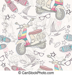 Cute grunge abstract pattern