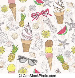 Cute summer abstract pattern.