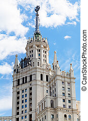 Stalin's style building in Moscow