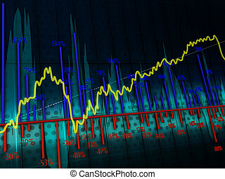 charts - Dark background with the image of colorful graphics