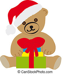 Teddy bear with Christmas gifts - *** Teddy bear with...