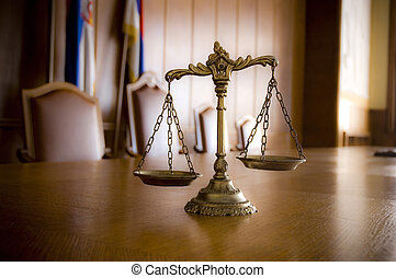 Decorative Scales of Justice - Symbol of law and justice in...