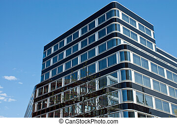 New office building - A modern office building seen in...