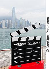 Hong Kong Avenue of Stars - HONG KONG, CHINA - APR 17:...