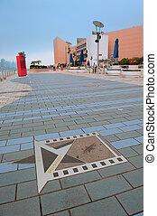 Hong Kong Avenue of Stars - HONG KONG, CHINA - APR 17: Star...