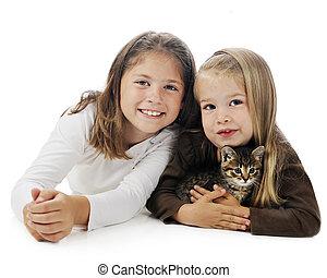 Kitty Loving Sisters