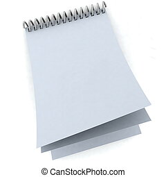Blank notebook in silver spiral - Blank notebook in silver...