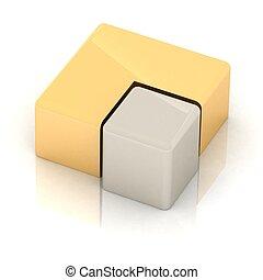 dorado, Pastel, gráfico