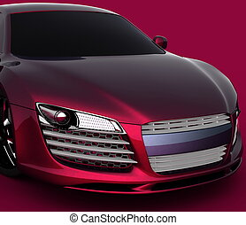 Car model on red background - Car model on red background
