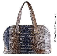 handbag - brown handbag isolated white
