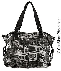 handbag - black handbag isolated white