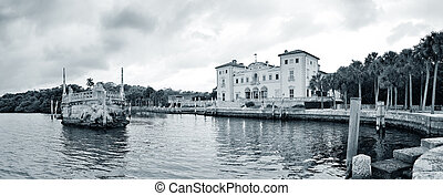 Miami Vizcaya museum at waterfront
