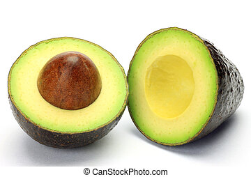 avocado - I cut avocado to half and took it in a white...