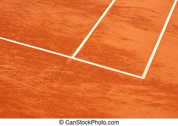 Tennis court in clay