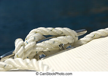 Detail of a boat rope