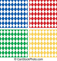 Seamless Harlequin Pattern - Harlequin patterns, 4 seamless...