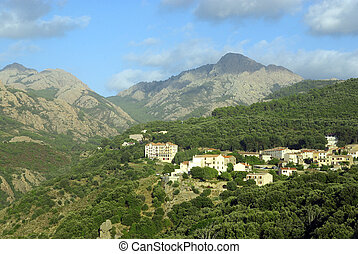 Typical Corsican village