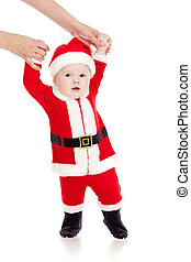first steps of Santa claus baby