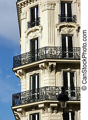 Typical Parisian building detail - Image of a typical...