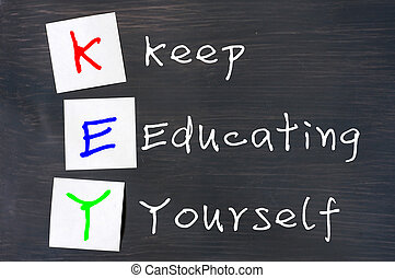 Acronym of Key for Keep Educating Yourself