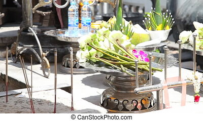 Candles in Grand Palace of Bangkok