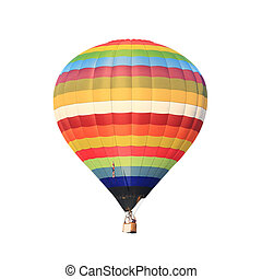 hot air balloon isolated whte