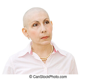 Cancer patient undergoing chemotherapy - Woman cancer...