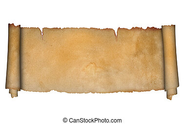 Antique scroll - Scroll of antique parchment