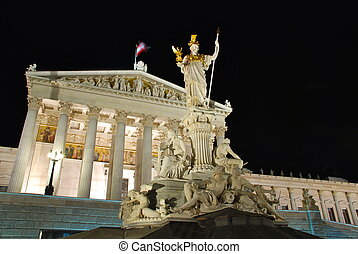 The Austrian Parliament Building, is where the two Houses of...