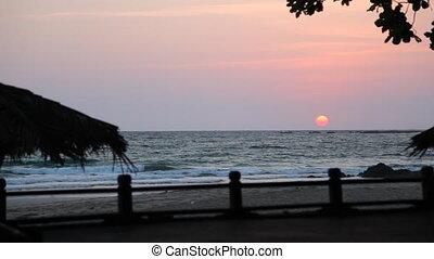Ngapali beach sunset, Myanmar - Ngapali beach, Myanmar