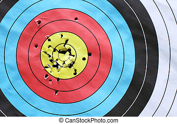 inspiration to successful with archery target