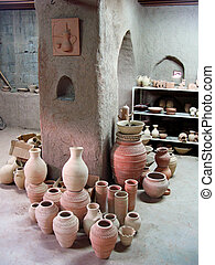 Bahla Pottery Market in Oman in the Middle East