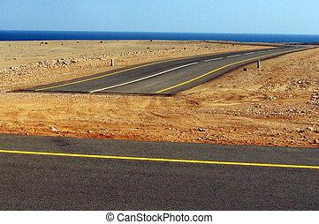 Dead End Road in Oman