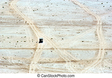 The Hashemite Kingdom of Jordan-Wadi Rum - Land Rover jeep...