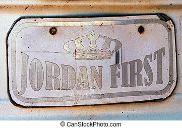 The Hashemite Kingdom of Jordan-Wadi Rum - A car number...